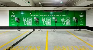 Four electric vehicle charging stations for Parkade E and 10 for Parkade G