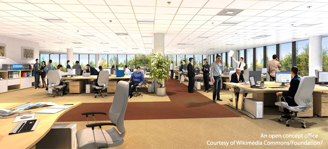 Inside Collaborative Classroom ~ Workplace design affects productivity report