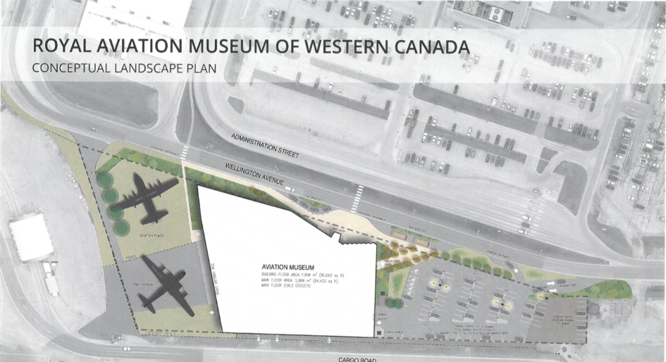Royal Aviation Museum of Western Canada building site plan