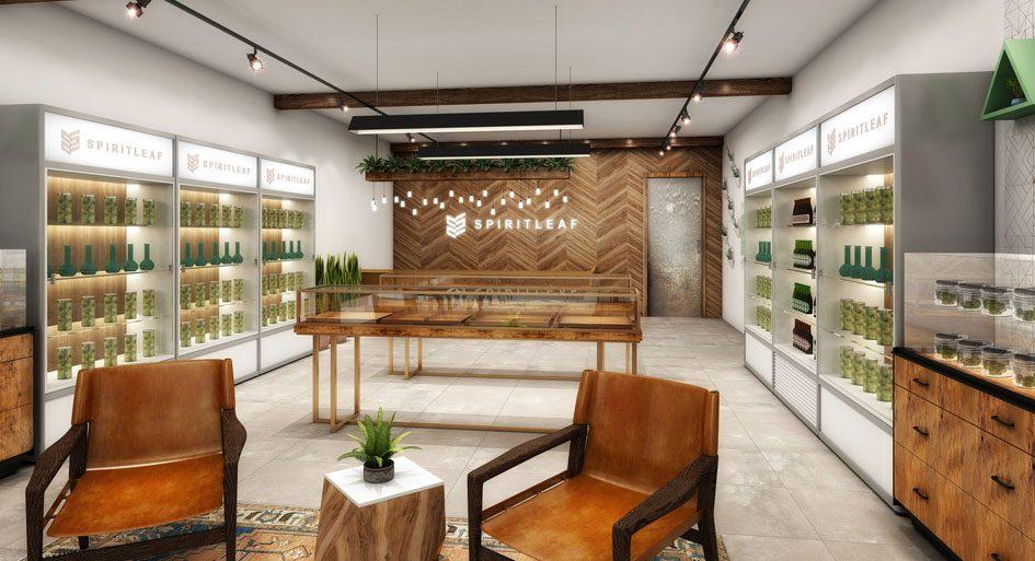 Unique Recreational Cannabis Retail Concept Design REMI Network Cool Interior Design Retail Concept