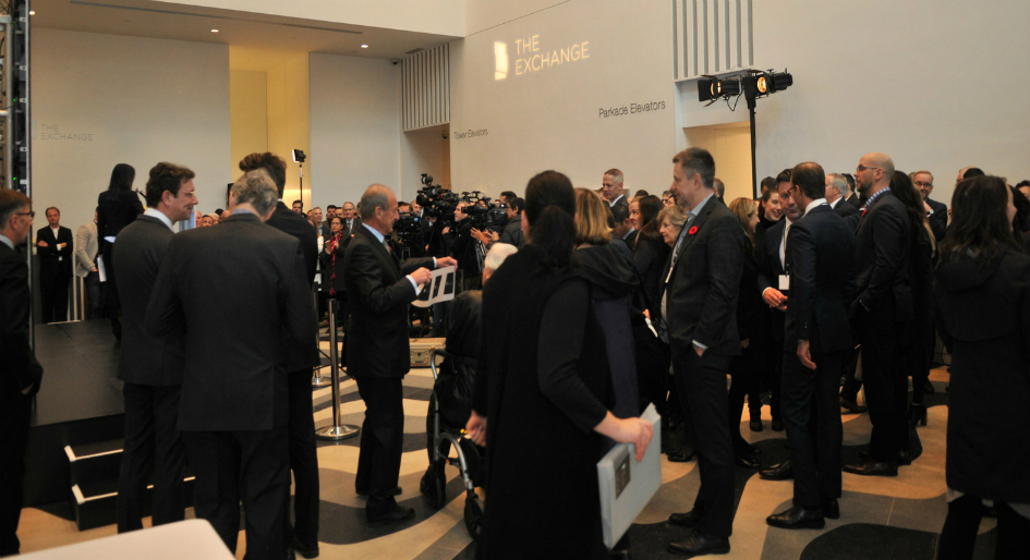 More than 200 people attended the grand opening for The Exchange, Vancouver's tallest LEED Platinum office tower.