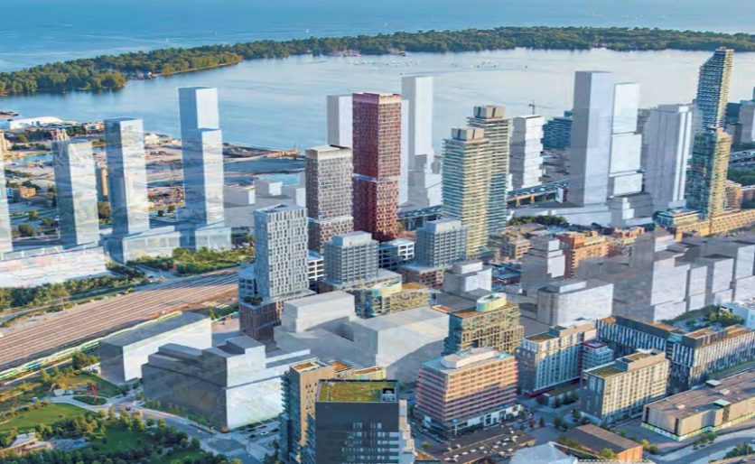 West Don Lands proposed rental towers