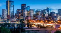 milder decline in downtown Calgary