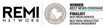 REMI Network, 2015 Canadian Online Publishing Awards