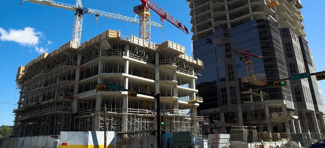 Non-residential building construction down