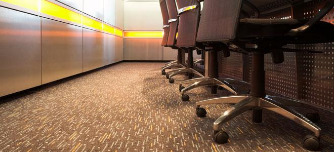 repairing carpet damange left by office furniture