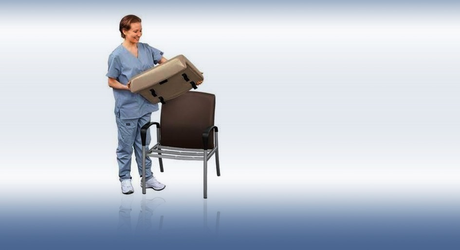 Seamless surfaces and removable seats improve cleanabilty and infection prevention.